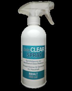 SoloCLEAR Breitband Desinfektions Spray - stoppt Viren, Keime & Bakterien, 500ml Sprühflasche